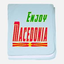 Enjoy Macedonia Flag Designs baby blanket