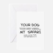 Safari Cat designs Greeting Card