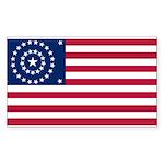 US - 38 Stars Concentric Circles Flag Sticker