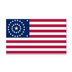 US - 38 Stars Concentric Circles Flag Rectangle Ca