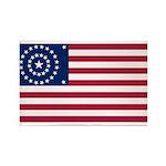 US - 38 Stars Concentric Circles Flag Rectangle Ma