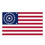 US - 38 Stars Concentric Circles Flag Postcards (P