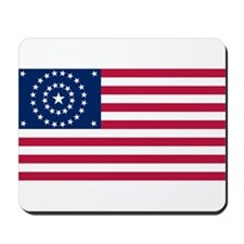 US - 38 Stars Concentric Circles Flag Mousepad