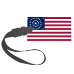 US - 38 Stars Concentric Circles Flag Luggage Tag