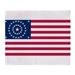 US - 38 Stars Concentric Circles Flag Throw Blanke