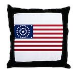 US - 38 Stars Concentric Circles Flag Throw Pillow