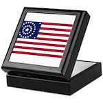 US - 38 Stars Concentric Circles Flag Keepsake Box