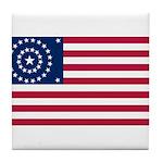 US - 38 Stars Concentric Circles Flag Tile Coaster