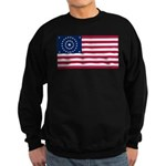 US - 38 Stars Concentric Circles Flag Sweatshirt