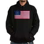 US - 38 Stars Concentric Circles Flag Hoodie