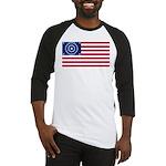 US - 38 Stars Concentric Circles Flag Baseball Jer