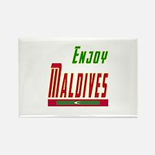Enjoy Maldives Flag Designs Rectangle Magnet