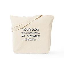Savannah Cat designs Tote Bag