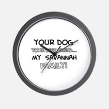 Savannah Cat designs Wall Clock