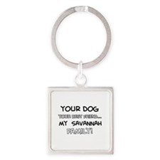 Savannah Cat designs Square Keychain