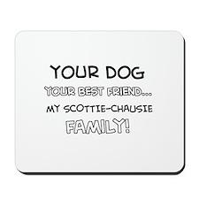 Scottie Chausie Cat designs Mousepad