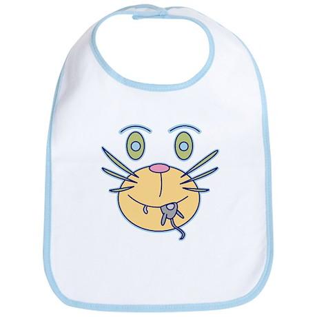 Snack Cat Cartoon Bib