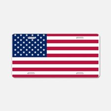 US - 50 Stars Flag Aluminum License Plate