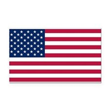 US - 50 Stars Flag Rectangle Car Magnet