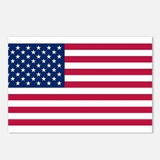 US - 50 Stars Flag Postcards (Package of 8)