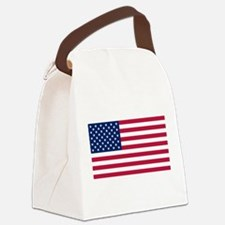 US - 50 Stars Flag Canvas Lunch Bag