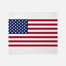 US - 50 Stars Flag Throw Blanket