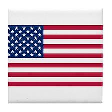 US - 50 Stars Flag Tile Coaster