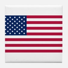 US - 50 Stars Flag Tile Coaster