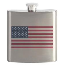 US - 50 Stars Flag Flask