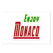 Enjoy Monaco Flag Designs Postcards (Package of 8)