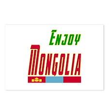 Enjoy Mongolia Flag Designs Postcards (Package of