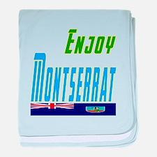Enjoy Montserrat Flag Designs baby blanket
