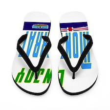 Enjoy Montserrat Flag Designs Flip Flops