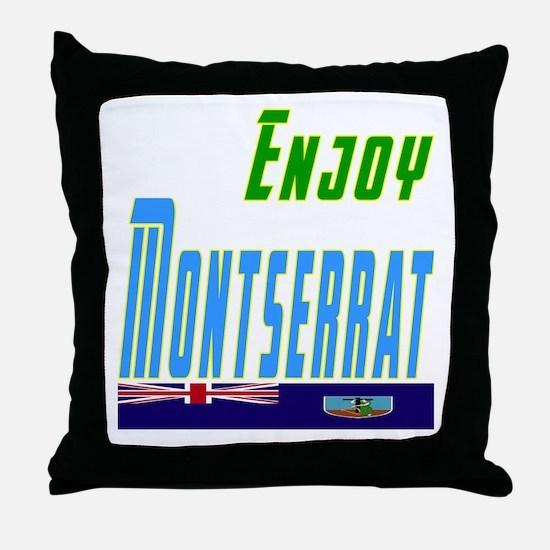 Enjoy Montserrat Flag Designs Throw Pillow