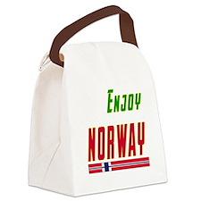 Enjoy Norway Flag Designs Canvas Lunch Bag
