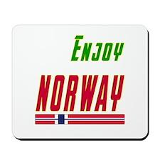 Enjoy Norway Flag Designs Mousepad
