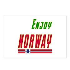 Enjoy Norway Flag Designs Postcards (Package of 8)