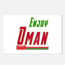 Enjoy Oman Flag Designs Postcards (Package of 8)