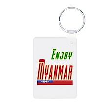 Enjoy Myanmar Flag Designs Keychains