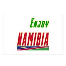 Enjoy Namibia Flag Designs Postcards (Package of 8