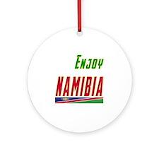 Enjoy Namibia Flag Designs Ornament (Round)