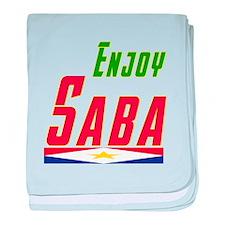 Enjoy Saba Flag Designs baby blanket