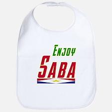 Enjoy Saba Flag Designs Bib
