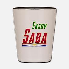 Enjoy Saba Flag Designs Shot Glass