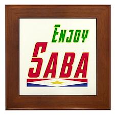 Enjoy Saba Flag Designs Framed Tile