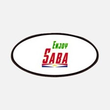Enjoy Saba Flag Designs Patches