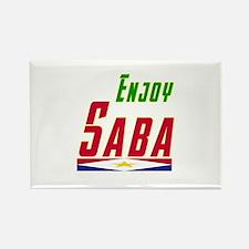 Enjoy Saba Flag Designs Rectangle Magnet