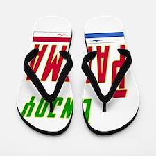 Enjoy Panama Flag Designs Flip Flops