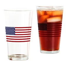 US - 51 Stars Flag Drinking Glass