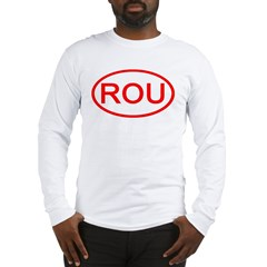 Uruguay - ROU Oval Long Sleeve T-Shirt